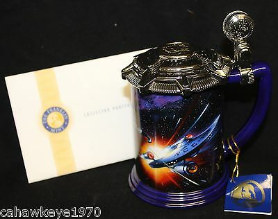 Rare The Franklin Mint Star Trek  Collector Tankard W/tags 2000 Never Displayed