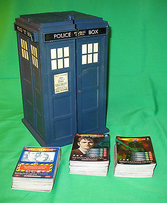 Doctor Who Battles in Time: 223 Exterminator cards with TARDIS (lidless) case.