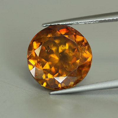 14.46 Cts-Round Cut-Natural-Fine Golden Orange Yellow-Sphalerite-GE3046