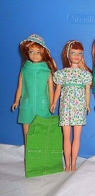 VHTF 1967 Skipper rare turquoise variation Right in Style dress, overall, shoes