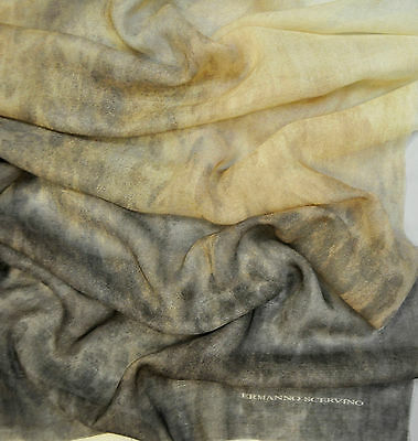 SALE Ermanno Scervino wool blend fabric. Animal print. Made in Italy 67 x 175 CM