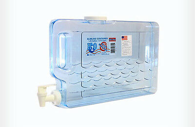 Kazmi Portable Drinking Water Tank Easy Wash Carry Handle 4.73 Liter Made in USA