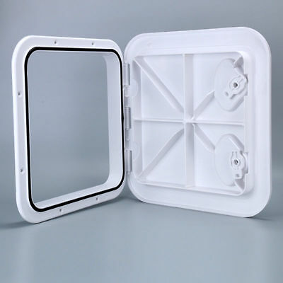 "Marine Deck Hatch Boat Deck Hatch Access Hatch & Lid 14-1/2"" X 14-5/8"" - White"