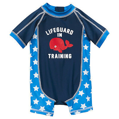 NWT Target Baby Boys Whale Stars Lifeguard in Training Unitard Swimsuit Size 0