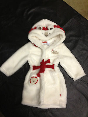 NWT Fisher Price Licensed Boys Girls Lion Fleece Dressing Gown Size 0 or 1 or 2