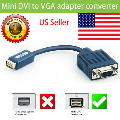 Apple MacBook Mini DVI to VGA Cable Adapter 603-3796 603-9258 M9320G//A