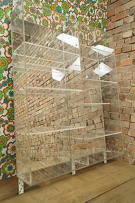 Vintage Wall Shelf Plastic Acrylic Space-Age Design 1970s Store furnishings
