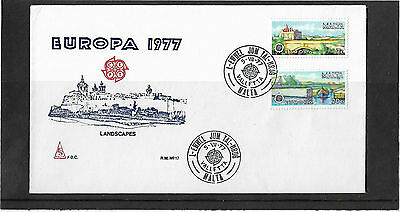 Malta 1977 Europa Set Illustrated Un-Addressed First Day Cover