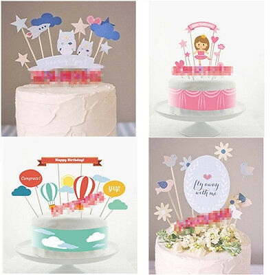 Cake Toppers Birthday Cake Fancy Cute Girl Decoration Picks Parties Event