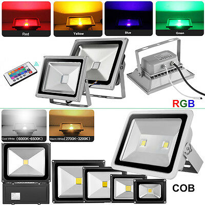 RGB LED Flood Light 10W 20W 30W 50W 100W 150W 200W 300W Outdoor Landscape Lamp