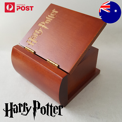 { HARRY POTTER} Book Design Engrave Wind Up Music Box Harry Potter Hedwigs Theme