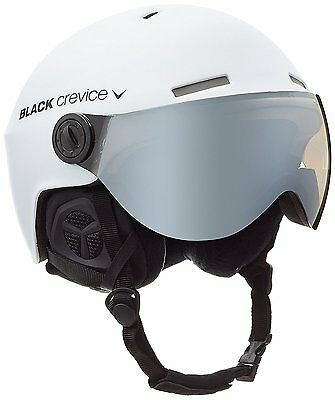 Black Crevice Gstaad Ski Helmet with Visor