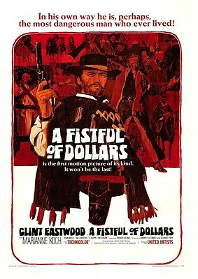 Fistful of Dollars movie Poster, spaghetti western, Clint Eastwood, Sergio Leone