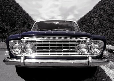 MK3 Ford Zodiac Poster - classic car wall Art  Print / photo - Blue