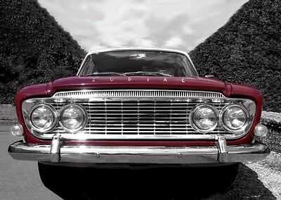 MK3 Ford Zodiac Poster - classic car wall Art  Print / photo - Maroon