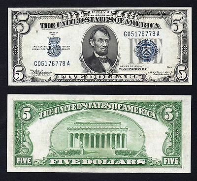 5 dollars United States Blue Seal 1934 SPL+/XF+