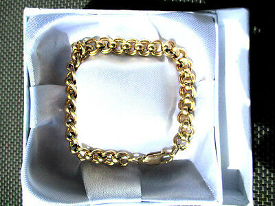 Vintage  9ct Gold Link bracelet, Hallmarked  18.10 Grams 21 cm long