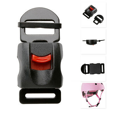 Motorcycle Black Helmets Speed Clip Buckle Chin Strap Quick Release Disconnect