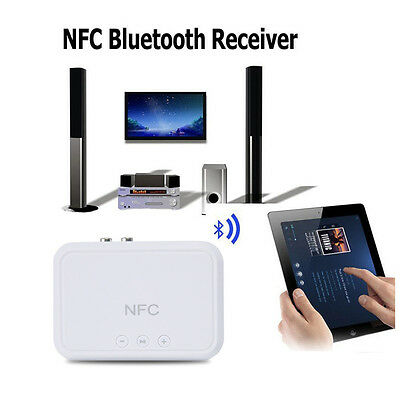 NFC Wireless Bluetooth 4.1 RCA 3.5mm Speaker Stereo Audio Music Receiver Adapter
