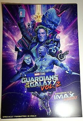 Guardians of the Galaxy Vol 2 IMAX poster Genuine *Free Postage*