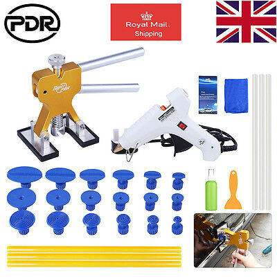 UK PDR Paintless Dent Removal Dentlifter Puller Tabs Dent Hail Repair Kit