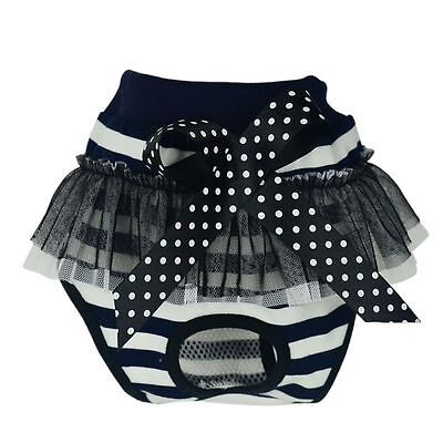 Pet Dog Puppy Diaper Pants Lace Bow Physiological Sanitary Short Panty Underwear