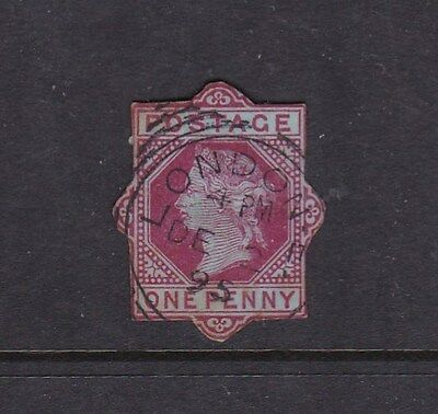 GB Queen Victoria Stationary cut out Cancel London 1895