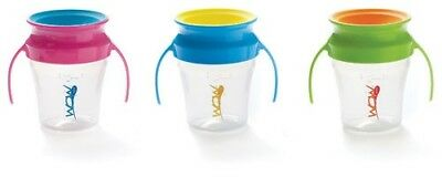 WOW Sippy Cups Spill Free Training Cups for Babies Choice of 3 Colours BPA Free