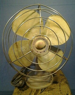 "Vintage 1950 s Victor 12"" 3 Speed Oscillating Fan"