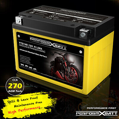 YTZ14S AGM Motorcycle Battery Honda KTM Yamaha ATV Replace YTX9BS YT12ABS YTZ12S