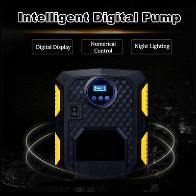 Digital 12V Car Van Bike Tyre Inflator Electric Air Compressor Pump
