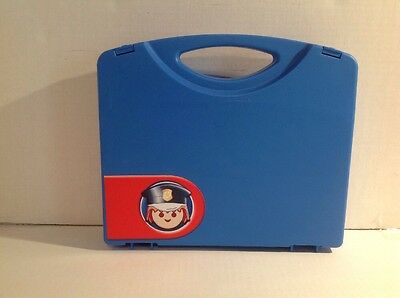 Playmobil Blue Carrying Case Undivided w/ Double Latch Lock 9.75 x 8.5 x 2