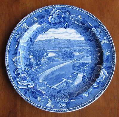 English Wedgwood Historical Blue Plate - Fort Ticonderoga, New York MINT cond