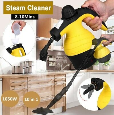 1050W Handheld Handy Steam Cleaner Mop Floor Carpet Steamer Washer Pressure AU