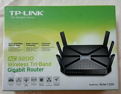 Tp-Link Archer C3200 (Ac3200) (600+1300+1300) Wireless Tri Band Wifi Lan Router