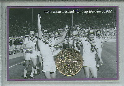 West Ham United The Irons Vintage F.A Cup Final Winners Retro Coin Gift Set 1980