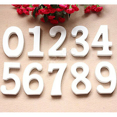 3D Wooden Number Plate Table Stand Wedding Party Table Decor Props Number 8