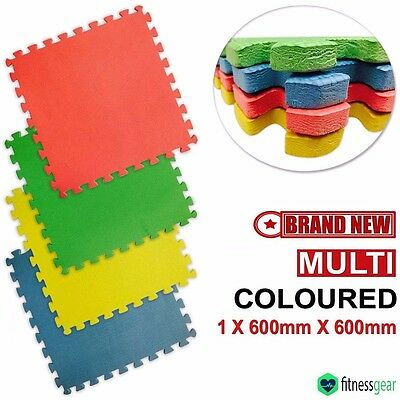 EVA Soft Foam Mats 12mm Interlocking Floor Mat Exercise Gym Kids Play Mat Tiles