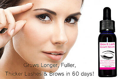 Lash & Brow Growth Serum Grows Longer Fuller Thicker Lash with Applicator 30ML