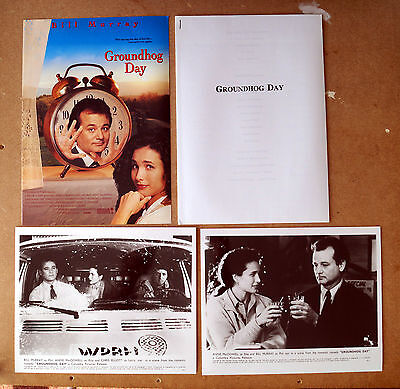 Groundhog Day (1993) Movie Press Kit Bill Murray, Andie MacDowell, Chris Elliott