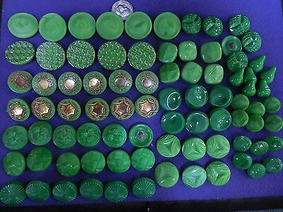 83 Lot Beautiful  Old Vintage Glass Buttons