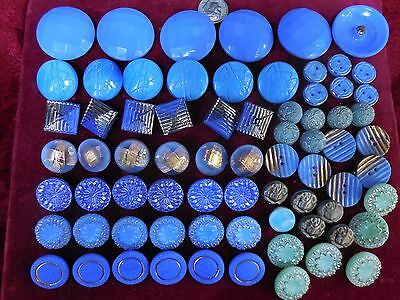 72 Lot Beautiful  Old Vintage Glass Buttons