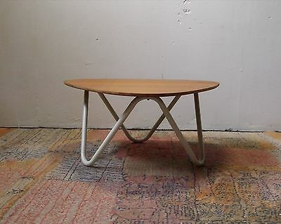 table basse 1950 vintage chene 50's hitier