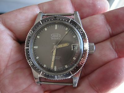 Diver SILVER Automatic Case by Universal Geneve bye Technos movement Felsa 4007N