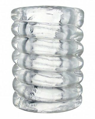 Clear Spiral Stretchy TPE Ball Stretcher NEW !! The Ultimate Perfect Fit