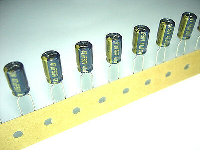 25pack Panasonic 47uf 50v 105C FC Series Electrolytic Capacitors NEW