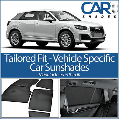 AUDI Q2 5 Door 2016 ON UV CAR SHADES WINDOW SUN BLINDS PRIVACY GLASS TINT BLACK