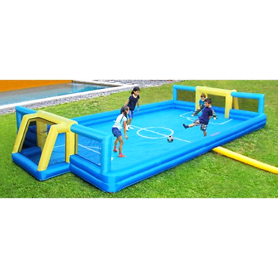 Sportspower Inflatable Pitch Soccer Football Field with 2 Soccer Goals