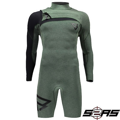2017 Brunotti Bravo 3/2mm Longarm Shorty Wetsuit (Granite Green)