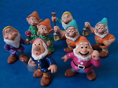 Vintage PVC Mini Figures - BULLYLAND - SNOW WHITE DWARFS - Some Doubles